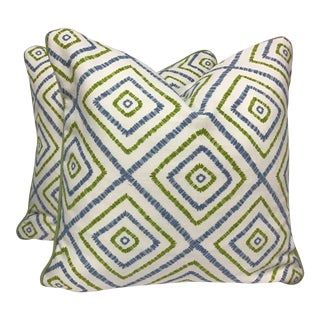 Thibaut's Jubilee Collection Pillows-a Pair For Sale