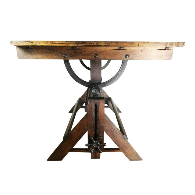 Antique Drafting Table - Image 3 of 5