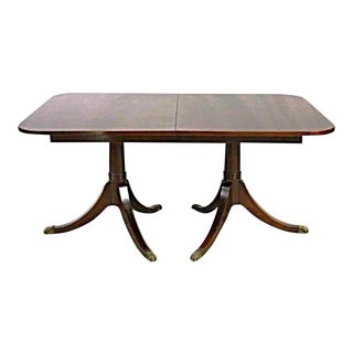Sheraton Style Mahogany Extension Dining Table