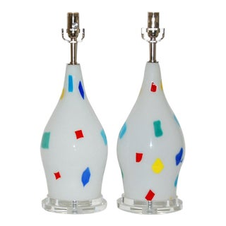 Dino Martens Murano Glass Patchwork Lamps For Sale