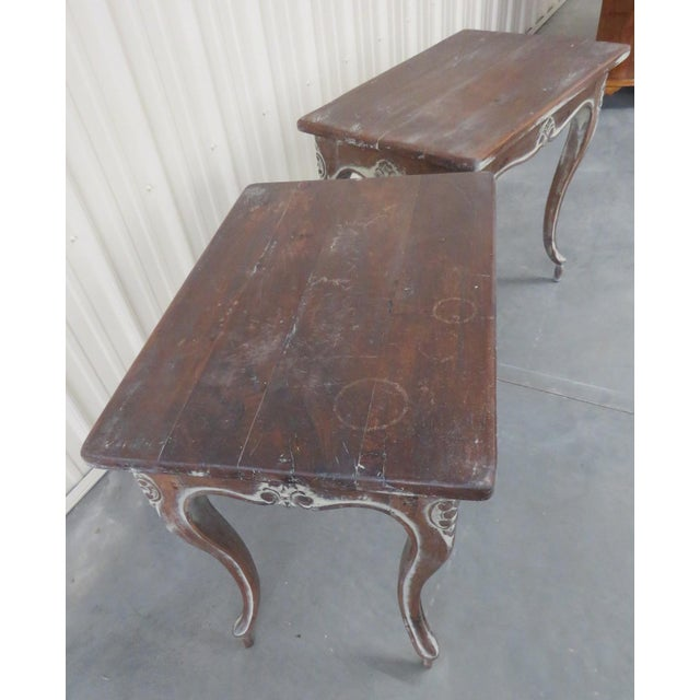 Paint Early 20th Century Louis XV Style End Tables - a Pair For Sale - Image 7 of 9