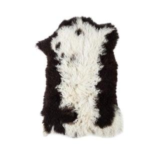 "Contemporary Natural Wool Sheepskin Pelt - 1'10""x2'8"" For Sale"