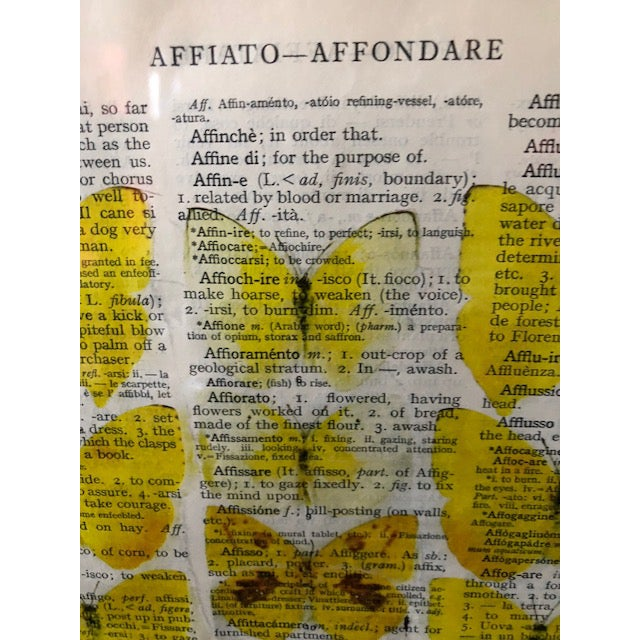 Italian Original Prints on Italian Dictionary Page For Sale - Image 3 of 6