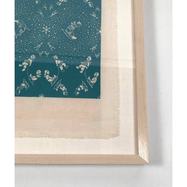 Folly Cove Designers Snow Flurry Hand Block Print For Sale In Boston - Image 6 of 10