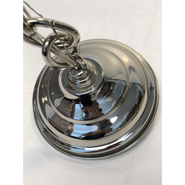 Ann Morris Lighting Rover Pendent in Grey and Polished Nickel For Sale In Los Angeles - Image 6 of 8