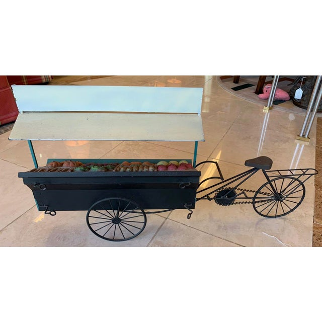 Mid-Century Modern Curtis Jere Fruit and Vegetable Cart Metal Sculpture For Sale - Image 3 of 9