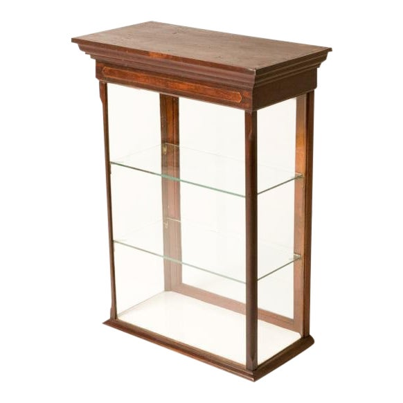 Late 19th Century Antique English Table Top Display Cabinet For Sale