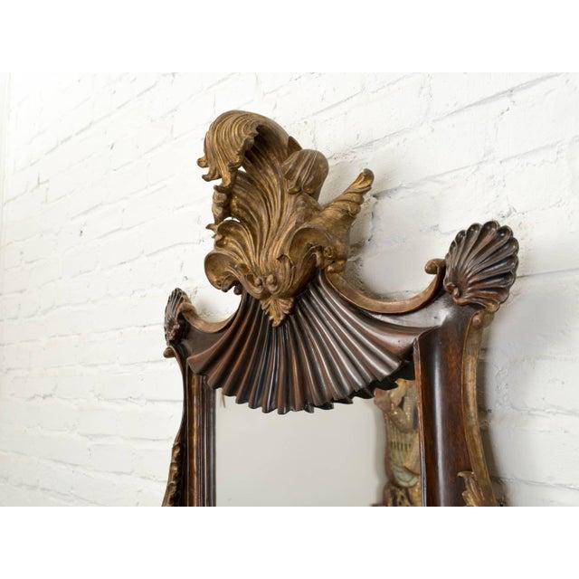 Antique Italian Giltwood Rococo Mirror For Sale - Image 4 of 9