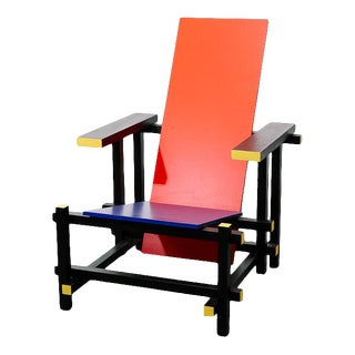Red and Blue Chair by Gerrit Rietveld For Sale