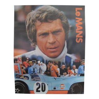 "1971 Original Vintage Advertising \ Movie Poster - Steve McQueen in ""Le Mans"" For Sale"