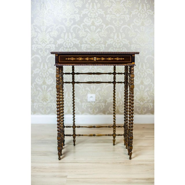 French Intarsiated Table from the 19th Century For Sale - Image 6 of 13