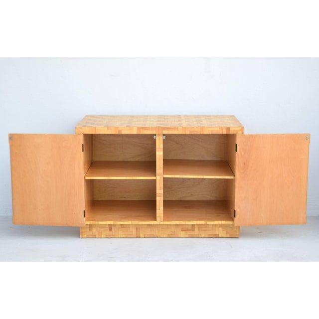 1960s Midcentury Two-Door Rattan Cabinet For Sale - Image 5 of 11