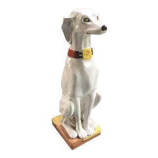 Mid-Century Ceramic Whippet Dog Statue