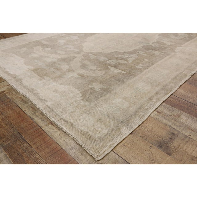 Vintage Turkish Oushak Rug - 05'00 X 08'00 For Sale In Dallas - Image 6 of 8