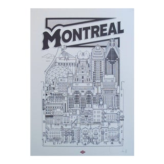 2018 Contemporary Cityscape Poster, Montreal For Sale