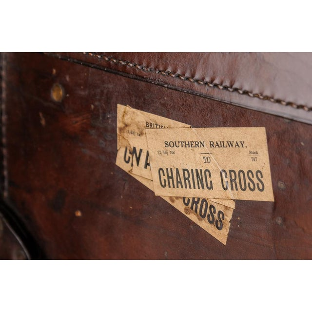 Late 19th Century Leather trunk on stand For Sale - Image 5 of 11