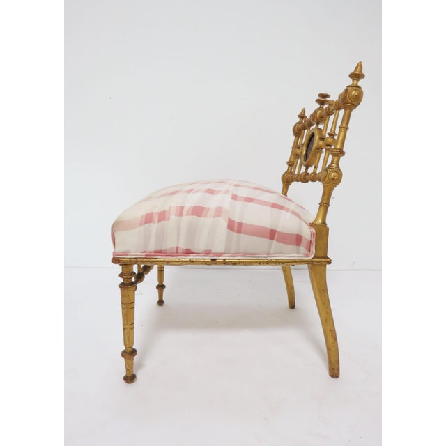 Wood Late 1800s American Aesthetic Movement Giltwood Slipper Chair For Sale - Image 7 of 13