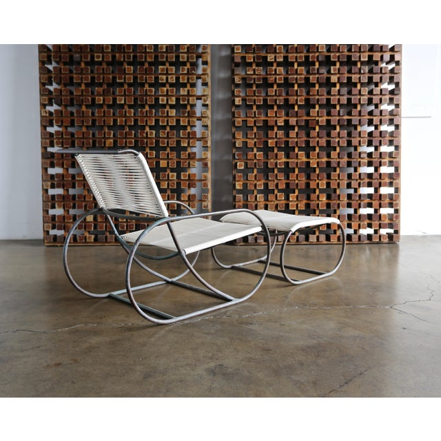 Bronze Outdoor Lounge Chair and Ottoman by Kipp Stewart for Terra of California For Sale - Image 9 of 13