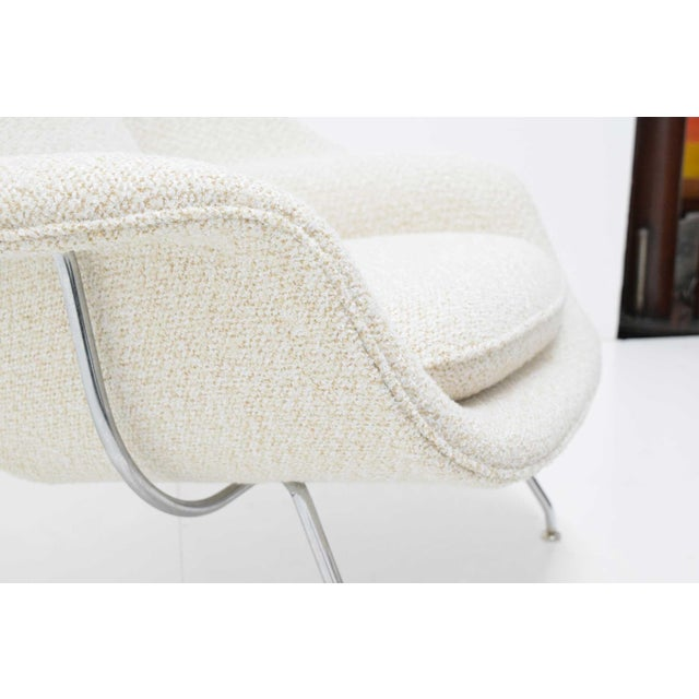 Metal Eero Saarinen for Knoll Womb Chair and Ottoman For Sale - Image 7 of 9