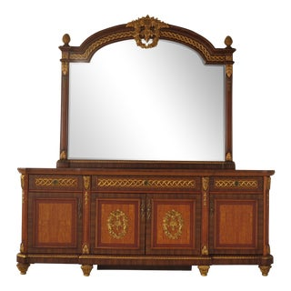 French Louis XV Style Dresser With Matching Mirror For Sale
