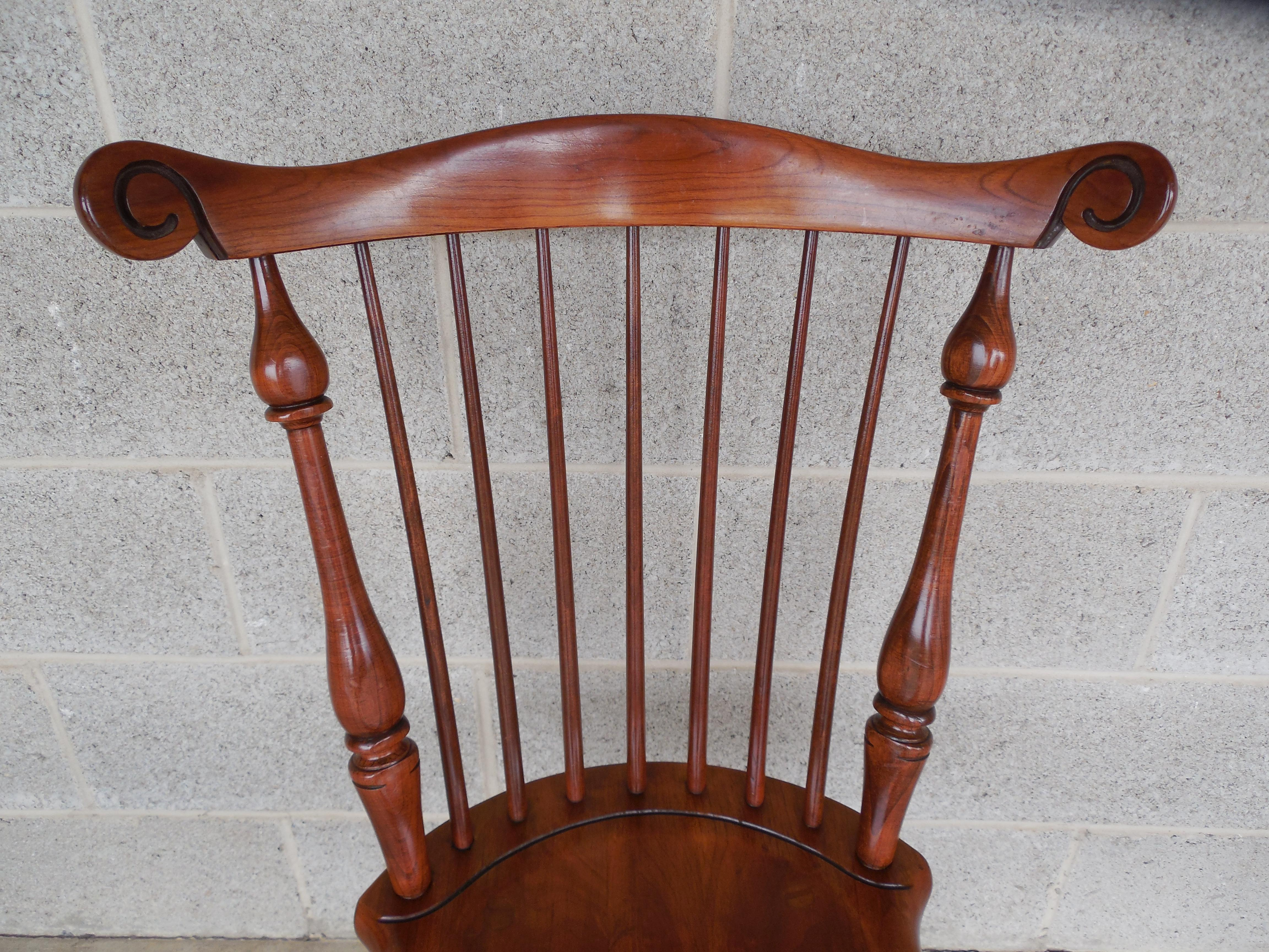 Frederick Duckloe Colonial Reproductions Cherry Windsor Style Chairs   Set  Of 6   Image 6 Of