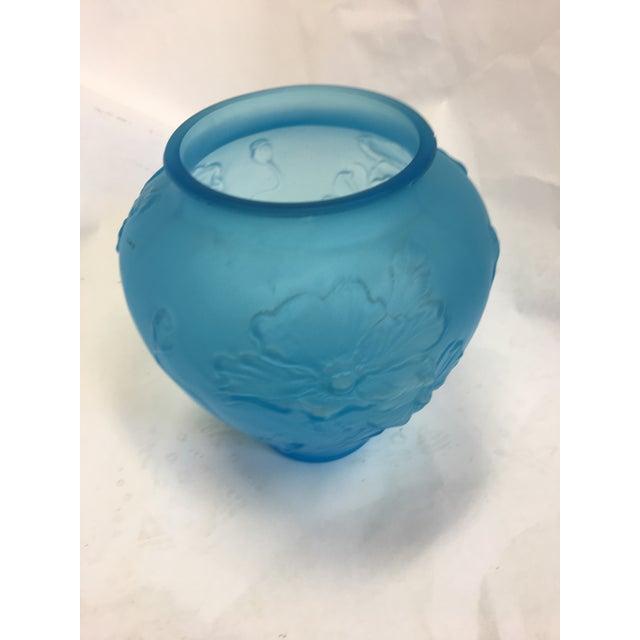 Art Nouveau Turquoise Glass Vase - Image 2 of 7