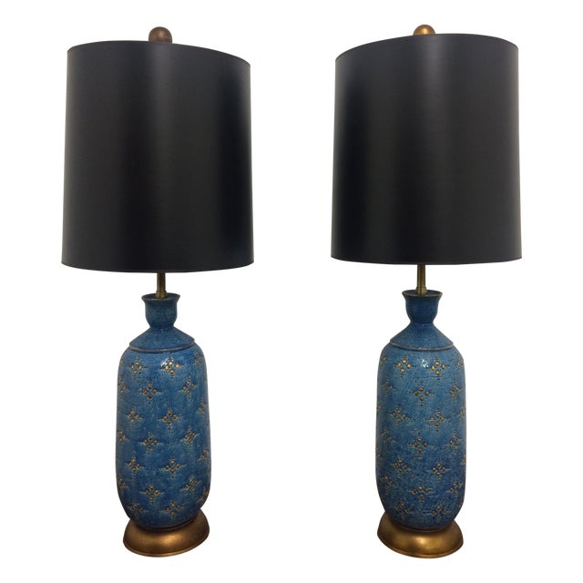 Italian Ceramic Marbro Lamps - A Pair - Image 1 of 4