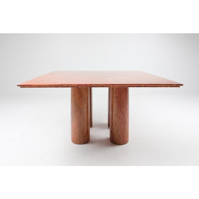 Mario Bellini Mario Bellini's Red Travertine 'Il Collonato' Dining Table For Sale - Image 4 of 11