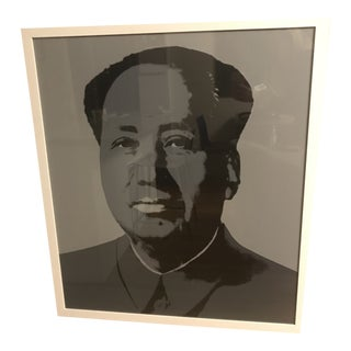 Andy Warhol Mao, Grey and Blue Sunday B. Morning Silk-Screen For Sale