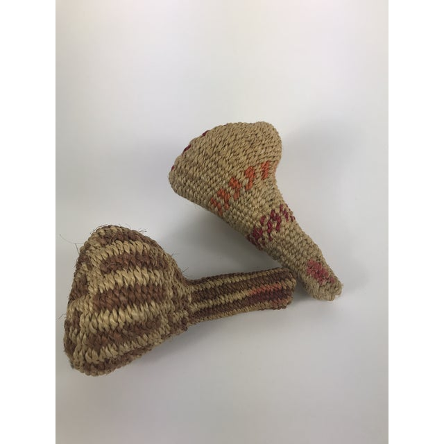 Vintage African Woven Maracas - a Pair For Sale In Los Angeles - Image 6 of 7