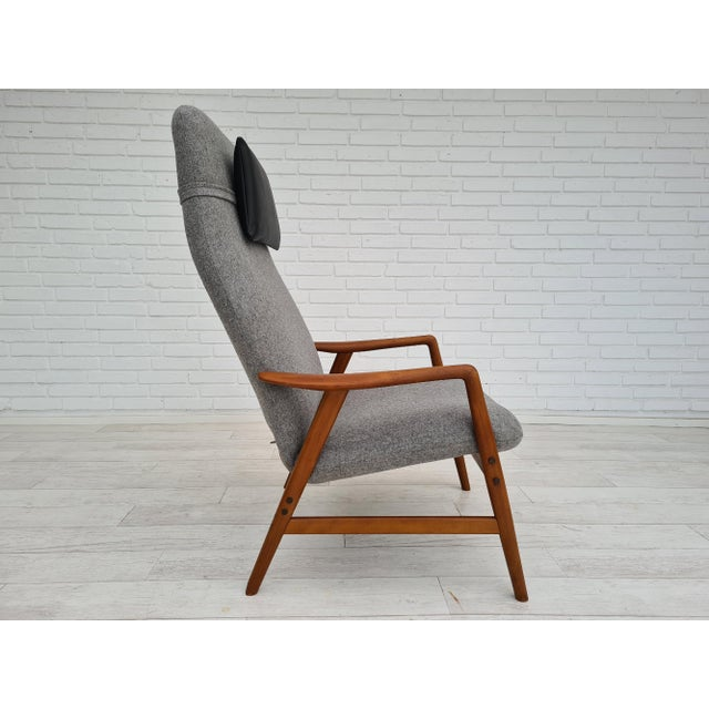 Mid-Century Modern Danish Design by Alf Svensson, Model Kontour, 70s, Completely Renovated-Reupholstered For Sale - Image 3 of 13