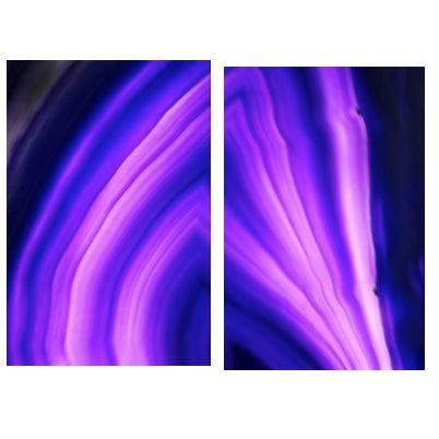 Purple Gemstone on Lex Diptych - Image 1 of 4