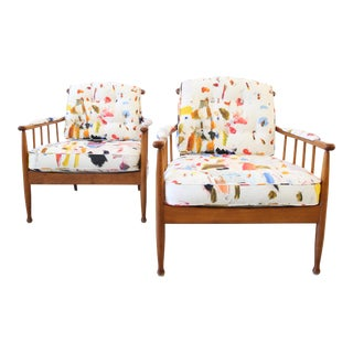 20th Century Contemporary Kerstin Horlin Holmquist Skrindan Armchairs - a Pair