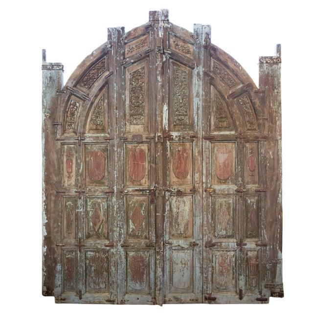 Brown Old Jodhpur Carved Entrance Doors For Sale - Image 8 of 8