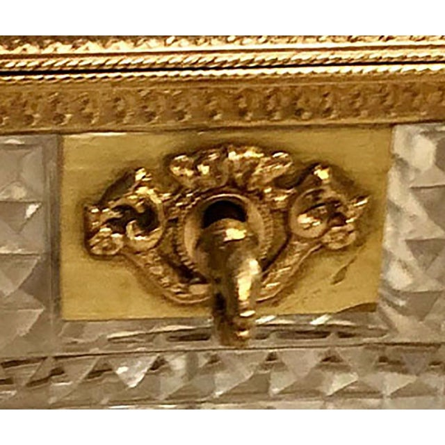 French Antique French Baccarat Crystal Dresser Box For Sale - Image 3 of 5
