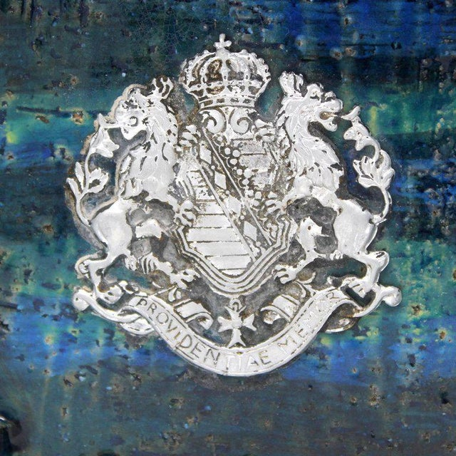 1960s Bitossi Ceramic Blue Ashtray For Sale - Image 5 of 10