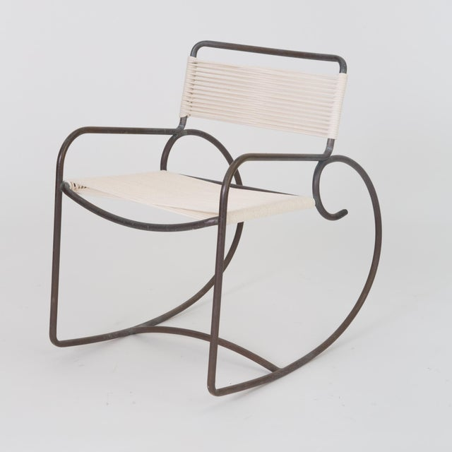 Bronze Single Walter Lamb Rocking Chair for Brown Jordan For Sale - Image 7 of 7