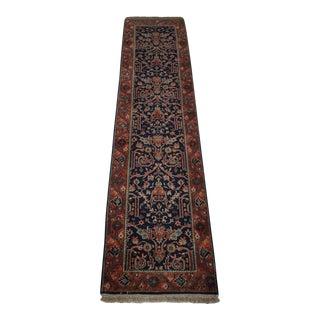 Vintage Indian Wool Runner-12' X 2.5' Ft. For Sale