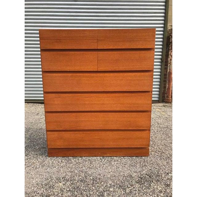 Danish Teak Tall Dresser - Image 7 of 7