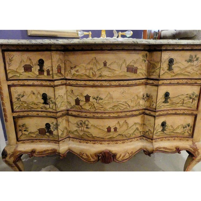 Chinoiserie Chinoiserie Paint Decorated Sink Vanity For Sale - Image 3 of 13