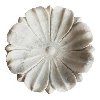White Marble Lotus Bowl