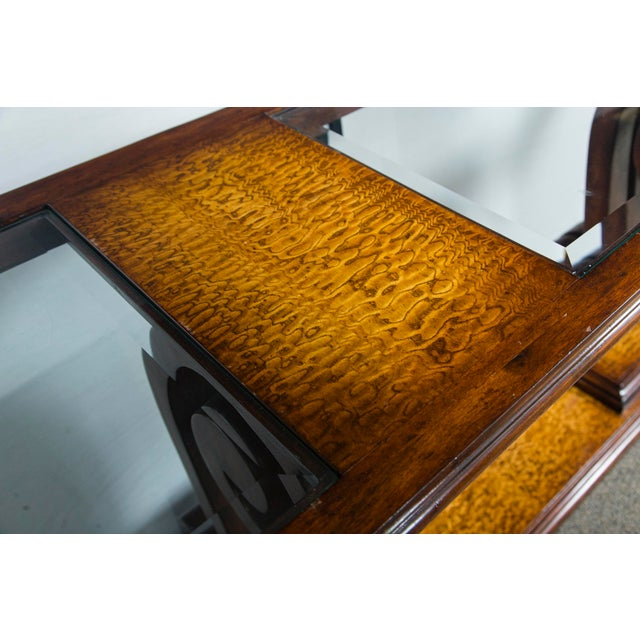 Traditional John Richards Walnut Console Table For Sale - Image 4 of 6