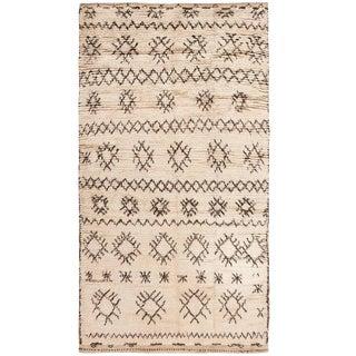 Vintage Moroccan Wool Rug - 4′ × 7′6″ For Sale