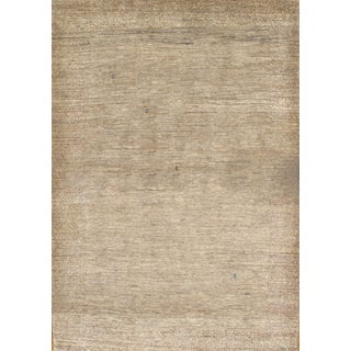 Hand-Knotted Persian Gabbeh Rug - 4′2″ × 5′11″