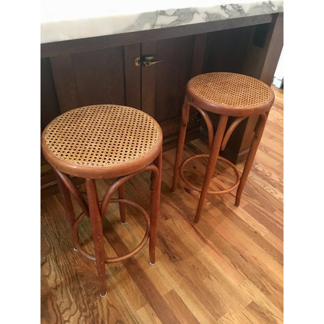 Mid-Century Thonet Style Bentwood Stools - Set of 3 For Sale In New York - Image 6 of 11