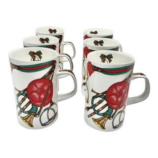 Vintage Gucci Equestrian Horseshoe Mugs - Set of 6 For Sale