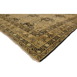 Early 20th Century Antique Distressed Persian Yazd Rug- 9′10″ × 12′2″ Preview
