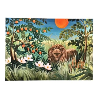 1980s Flora and Fauna Painting For Sale
