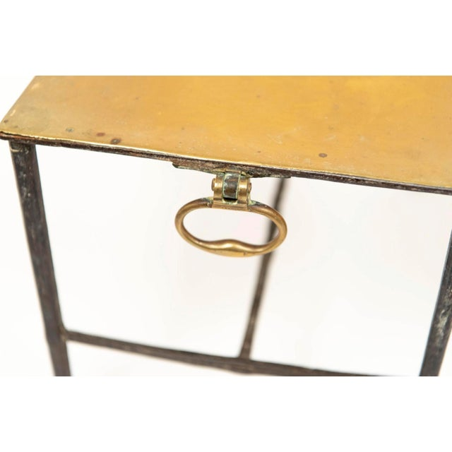 Brass Fireplace Pot Stand For Sale - Image 4 of 7