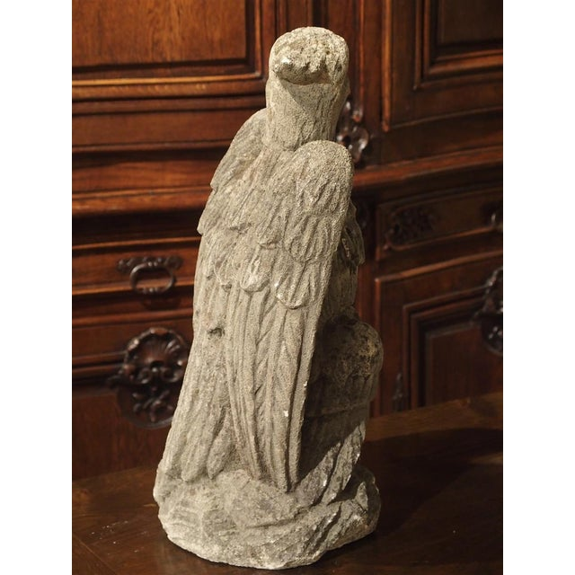 Gothic Carved Northern Italian Limestone Eagle Statue, 20th Century For Sale - Image 3 of 12
